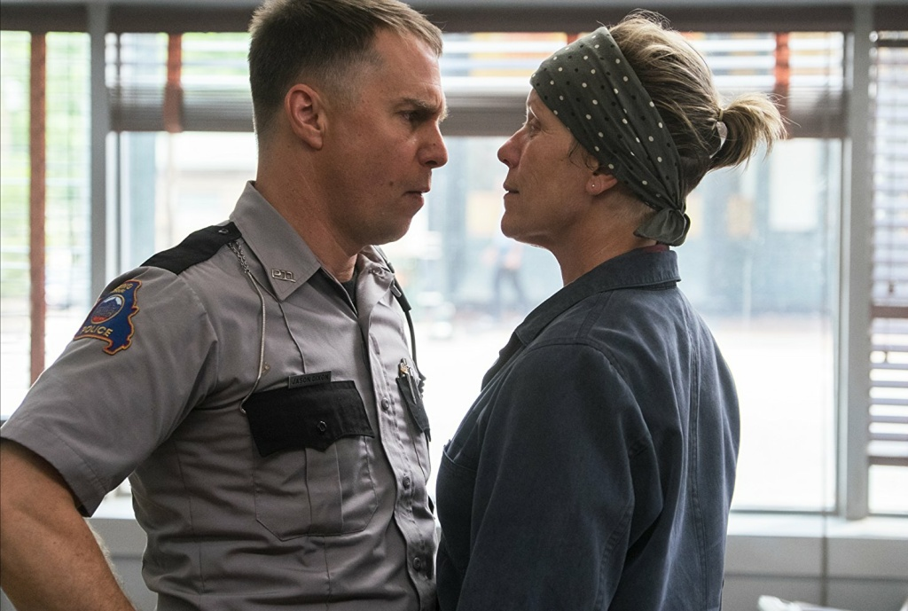 Sam Rockwell and Frances McDormand in