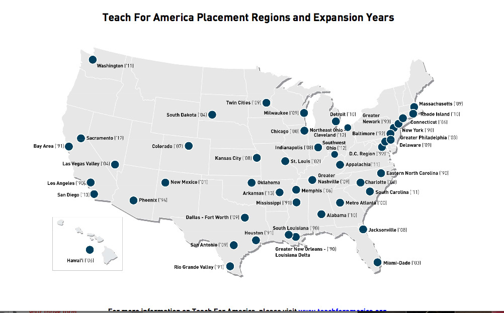 Teach for America has been on an expansion push for several years.