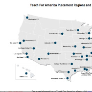 Teach for America map