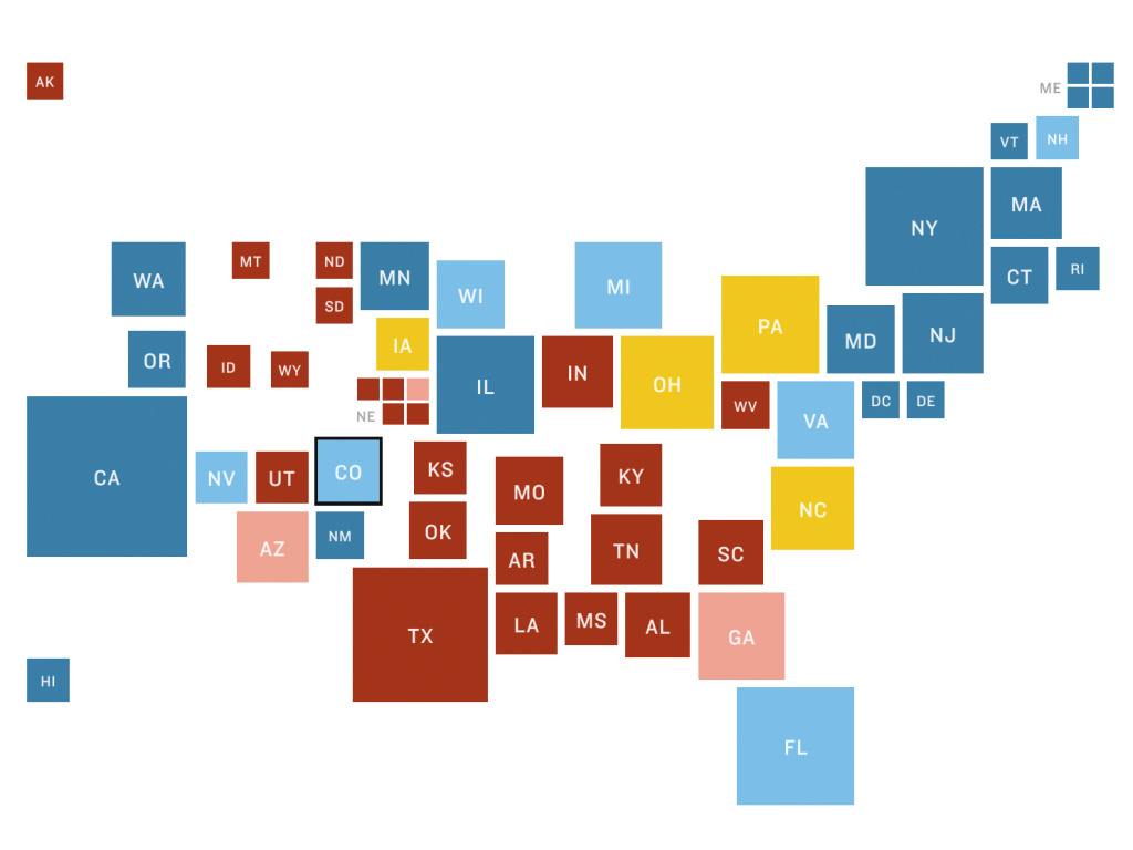 Where to find the electoral history of a state?