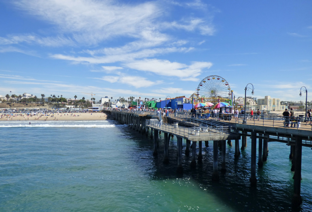 File: A sunny day at the Santa Monica Pier.