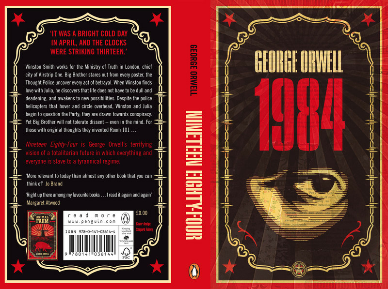 Book jacket for George Orwell's