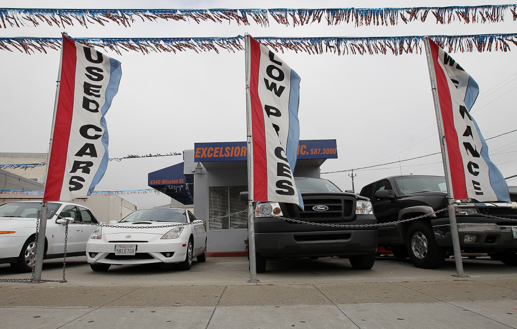 File: Used cars are displayed on a sales lot on June 9, 2011 in San Francisco.