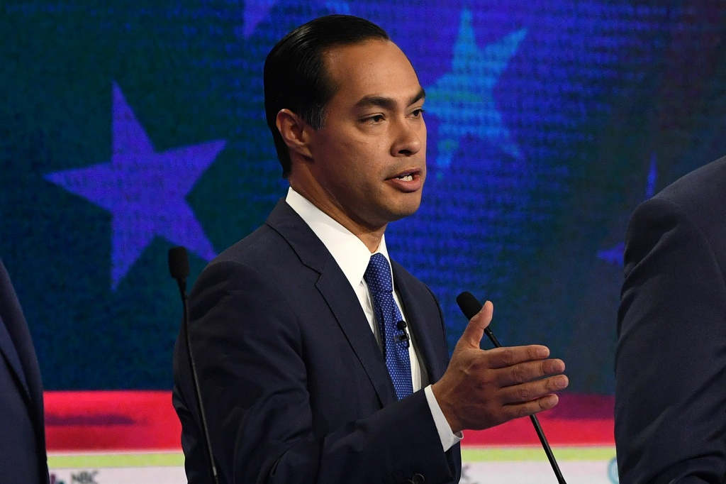Democratic presidential hopeful former Housing and Urban Development Secretary Julian Castro speaks during the first night of the Democratic presidential primary debate
