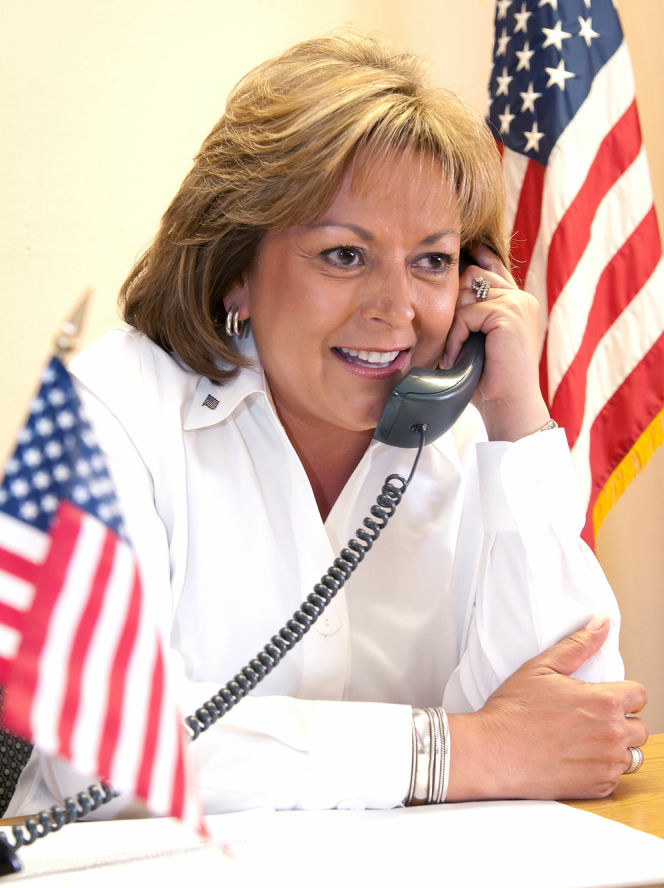 Susana Martinez was sworn in as the country's first Latina governor in Santa Fe, N.M., on Jan. 1, 2011.