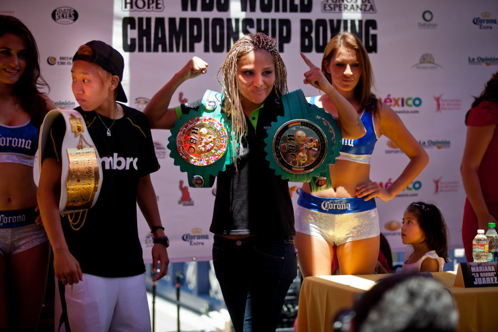 LOS ANGELES, CA: July 9, 2012 - The countdown has begun for Saturday's match between World Boxing Champion Mariana