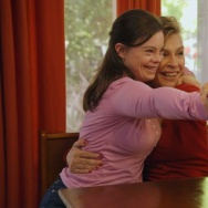 "Cristina and Bea Sanz on the television series ""Born This Way."""