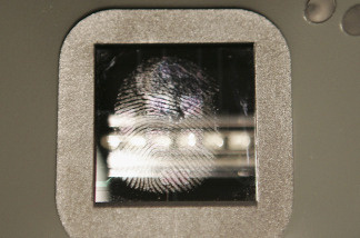finger printing at the airport?