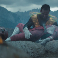"A still from ""POWER/RANGERS,"" a highly-produced Power Rangers fan film starring James Van Der Beek and Katee Sackhoff."