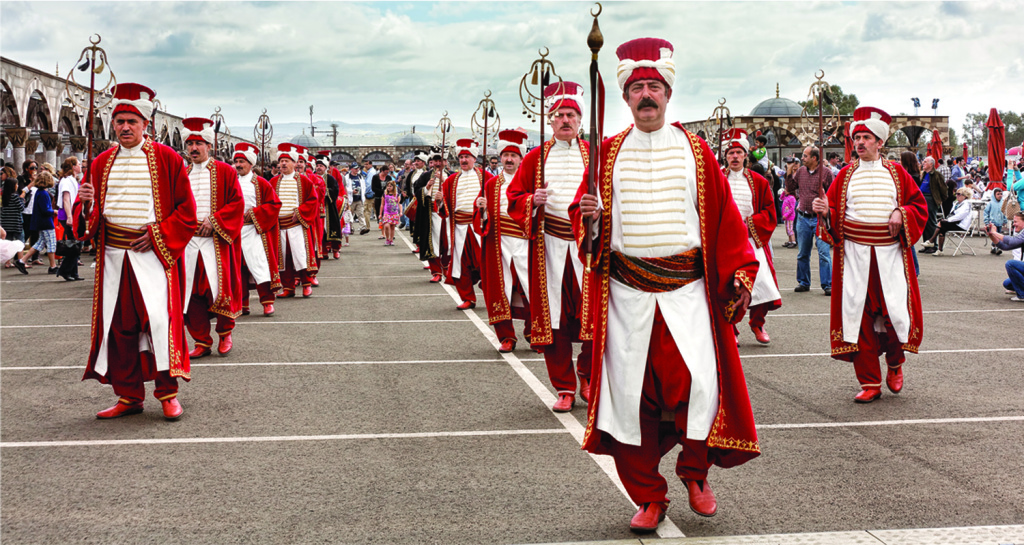 The Ottoman Military Marching band at the 2010 Anatolian Cultures and Food Festival in Orange County.