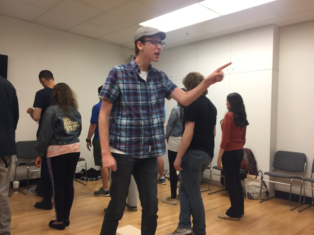 16-year-old Coby Bird rehearses for The Miracle Project's production,