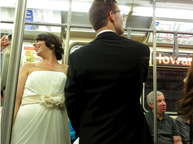 dapper day on the subway