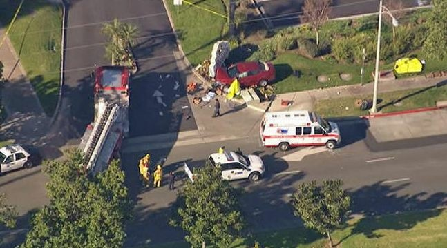 A woman and a girl were pronounced dead at the scene of a crash in Riverside, California on Friday.