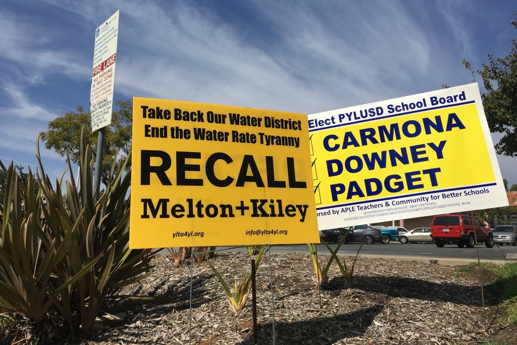 Two members of the Yorba Linda Water District Board have been put to a recall vote after the board voted unanimously to raise its base water rates by $25 a month.