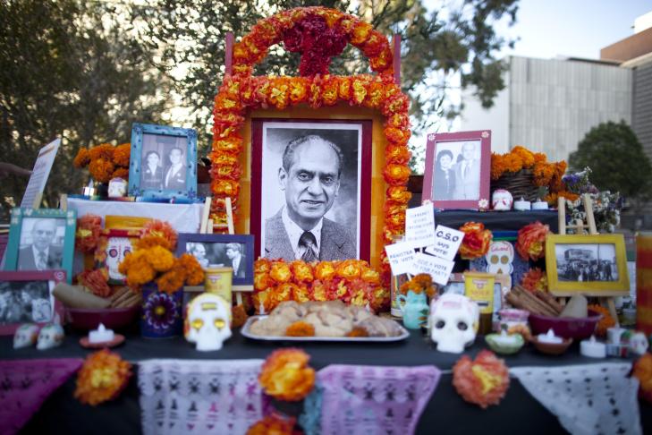 This Dia de los Muertos altar in Grand Park, titled