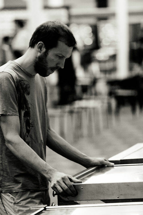 Competitor at the 2012 World Pinball Championships in Scott Township, PA.