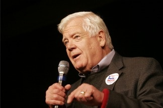 U.S. Rep Jim McDermott (D-WA) addresses the crowd during an election night rally Nov. 2, 2010 in Seattle.