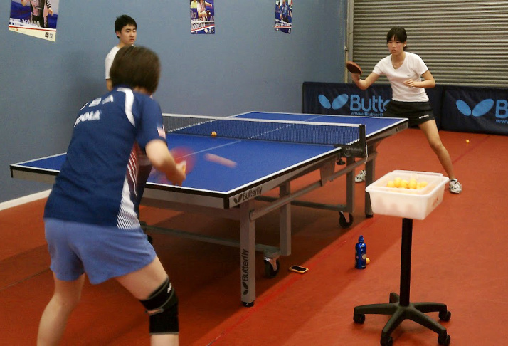 Erica Wu practices table tennis with an opponent at the Gao Jun Table Tennis Club in El Monte, Calif. Wu, a high school student at Westridge School in Pasadena is hoping to make it to the Olympics with the U.S. table tennis team.