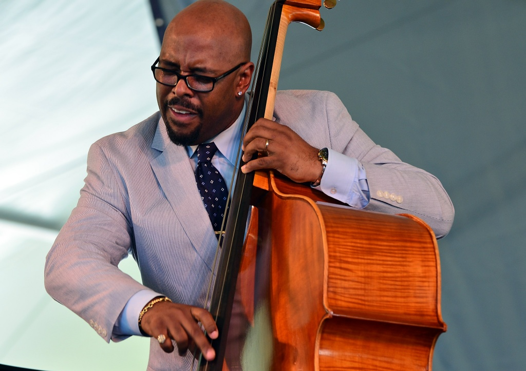 Bassist Christian McBride performs at the Newport Jazz Festival in Newport, Rhode Island, on July 31, 2015.