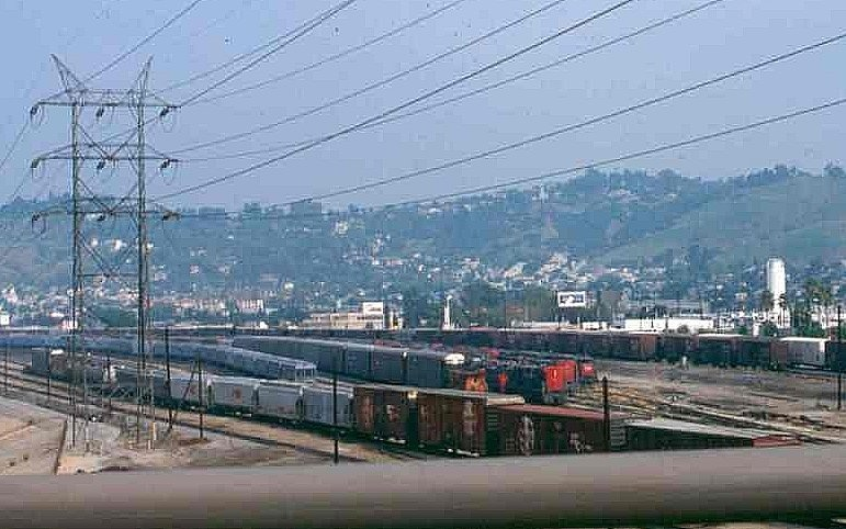 Southern Pacific Taylor Yard as seen from the Golden State Freeway in the 1980s.