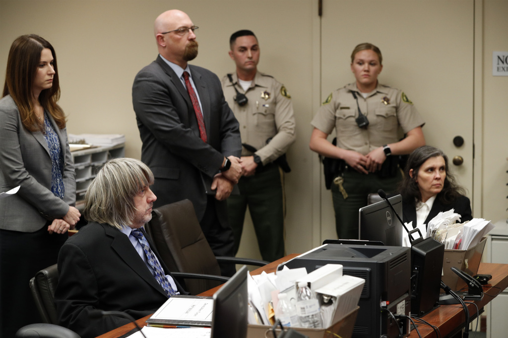 Louise Anna Turpin and David Allen Turpin, accused of abusing and holding 13 of their children captive, appear in court on January 24, 2018 in Riverside, California.