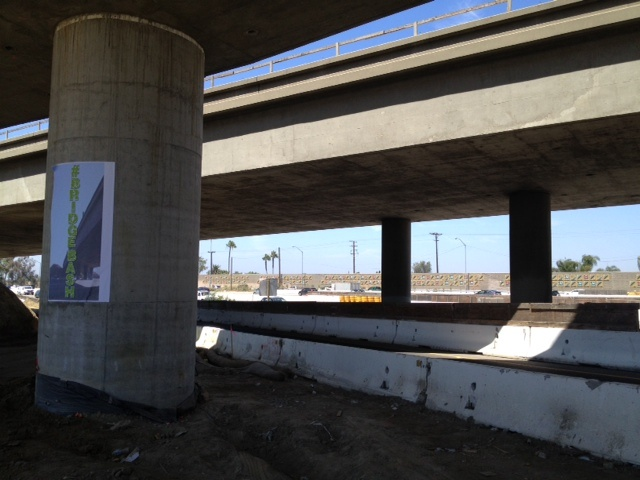 A section of the I-405 between the I-605 and Valley View Street will be closed for 20 hours this weekend to demolish the bridge seen above.