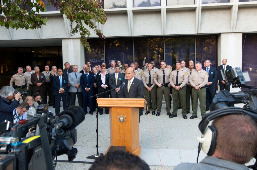 On Monday Dec. 9, 2013 Los Angeles Sheriff Lee Baca held a press conference to respond to the F.B.I. arrests of 17 Los Angeles sheriff's deputies.
