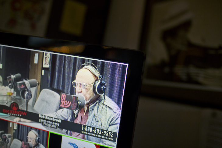 Bob Rosebrock hosts the first-ever episode of Veterans Revolution Radio on Wednesday evening, Feb. 25, 2015 at Skidrow Studios. The studio produces live broadcast talk and entertainment radio streaming online.
