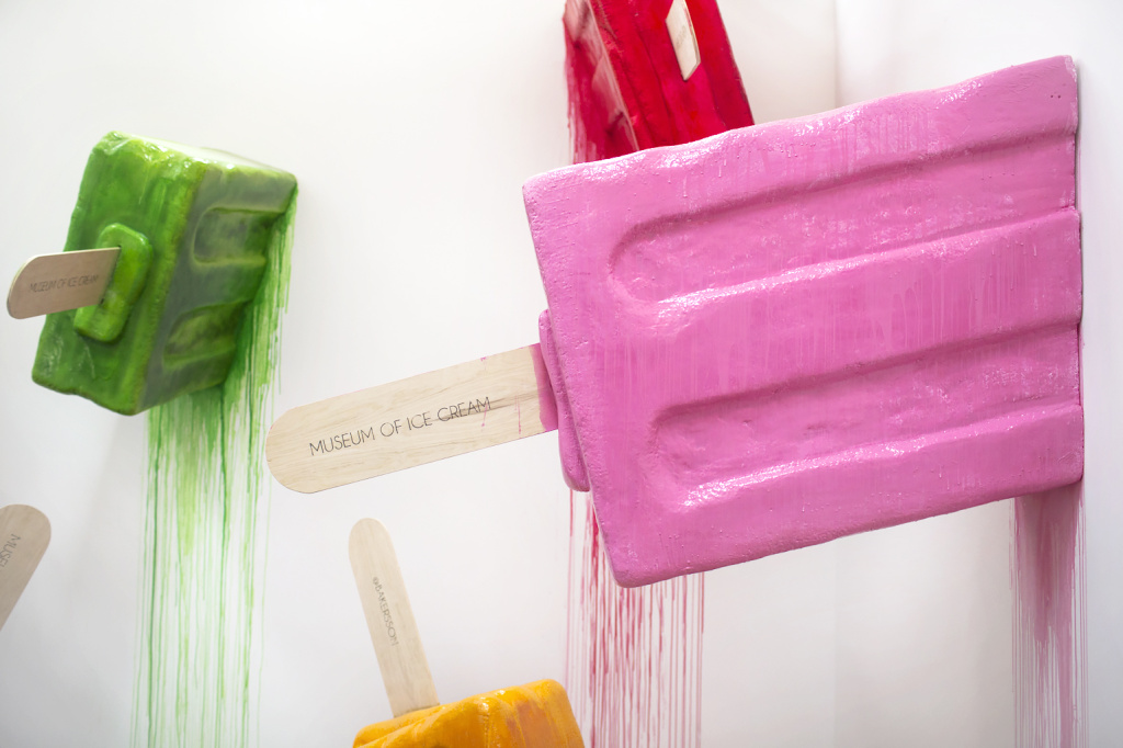An installation by artist Keith Magruder, also known as the Baker's Son, is on display during a press preview at the Museum of Ice Cream in the Arts District on Thursday, April 20, 2017. Magruder  is based in Oakland and Los Angeles.