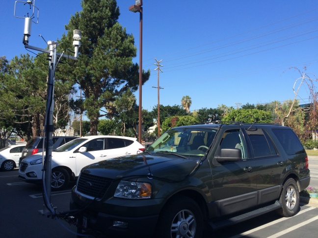 An SUV outfitted with pollution monitoring equipment is being tested in Los Angeles by the EPA.