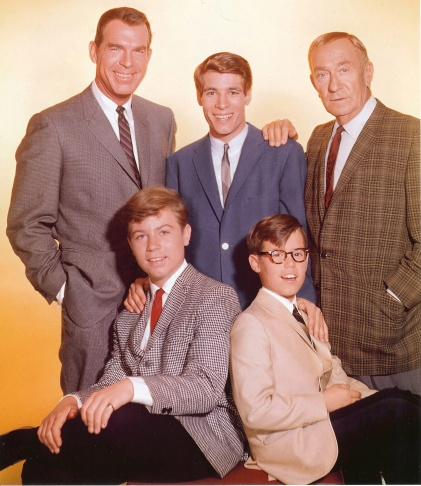 Fred MacMurray, Don Grady, William Demarest, Barry Livingston and Stanley Livingston