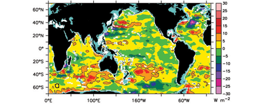 Trend in ocean heat content at depths between 0-2,000 meters. Image: Nature Climate Change