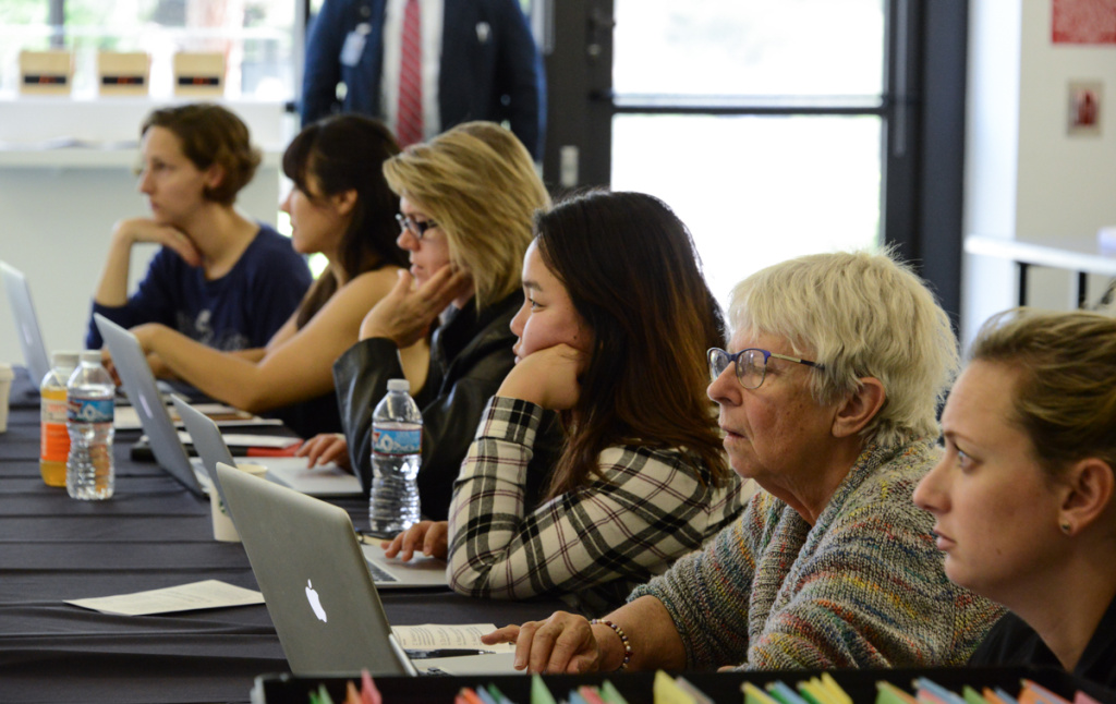 Seasoned editors and first-timers alike work to bridge Wikipedia's gender gap at LACMA's Art + Feminism Wikipedia Edit-a-thon
