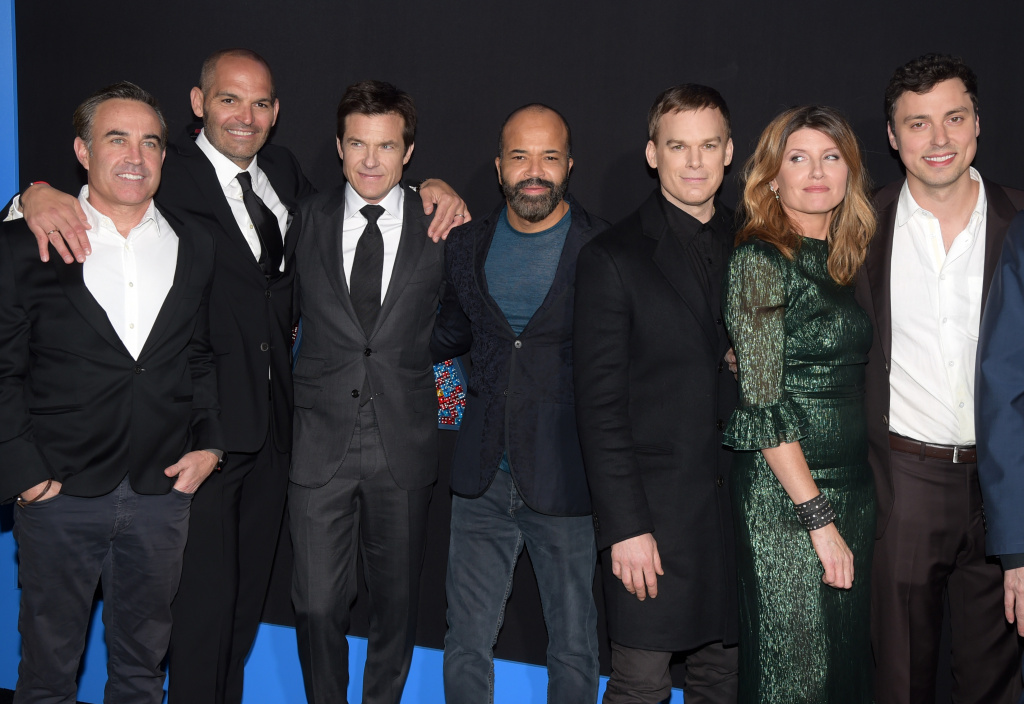 (L-R) Mark Perez, Jason Bateman, Jeffrey Wright, Michael C. Hall, Sharon Horgan and John Francis Daley attend the premiere of New Line Cinema and Warner Bros. Pictures'