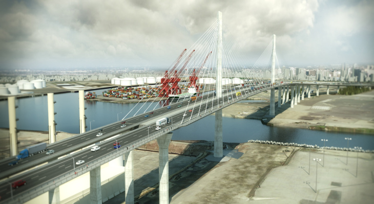 Daytime Rendering of Desmond Bridge replacement