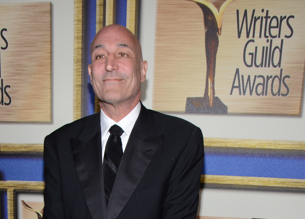 In this Feb. 1, 2014 file photo, Sam Simon arrives at the Writers Guild Awards, in Los Angeles. Simon, a co-creator of