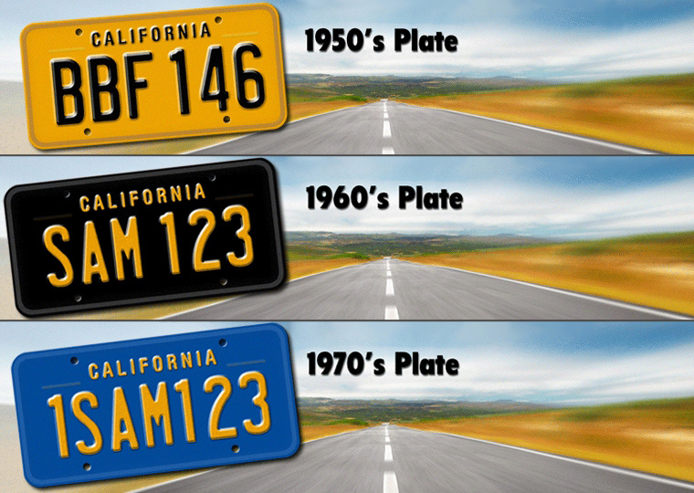 California Car Plates Cost