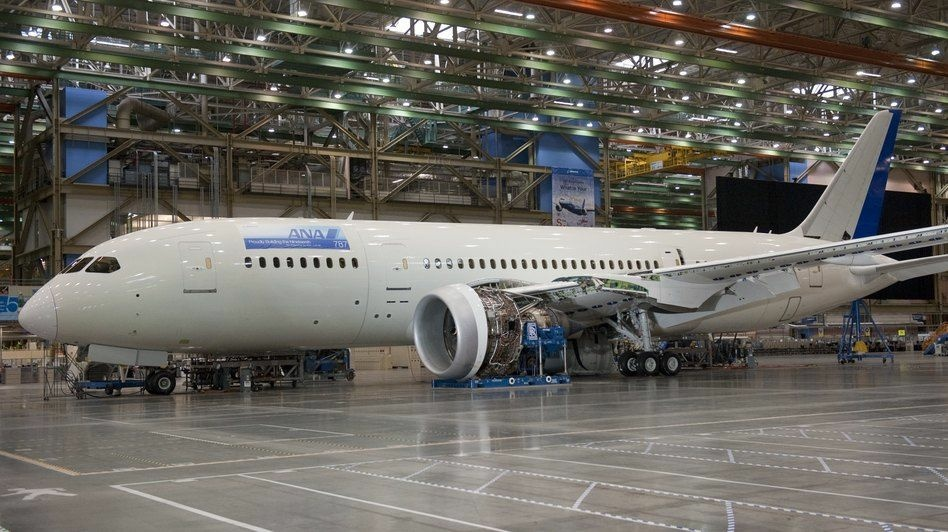 A Boeing 787 Dreamliner aircraft at the company's factory in Everett, Wash. The Commerce Department said Wednesday businesses increased their orders for core capital goods 7.2 percent from December. It was the best showing in more than a year and represented an upward revision from a preliminary estimate the government made last week of a 6.3 percent gain.Total factory orders fell 2 percent in January from December, mostly because of a steep decline in aircraft and defense orders.