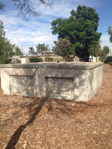 August 25, 2014. Savannah Memorial Park in Rosemead, California. The Board of Directors decided to let the lawns go brown and turn to drought-tolerant landscaping.