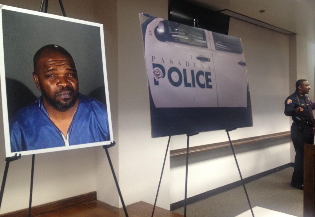 John Izeal Smith, 44, is a suspect in the shooting deaths of three people in Pasadena on Saturday, July 12, 2014, and the injury of two others. Smith called 911 to confess to the killings and to say that he wanted to surrender to police waiting outside a house in which he was barricaded, according to the Pasadena Police Department.