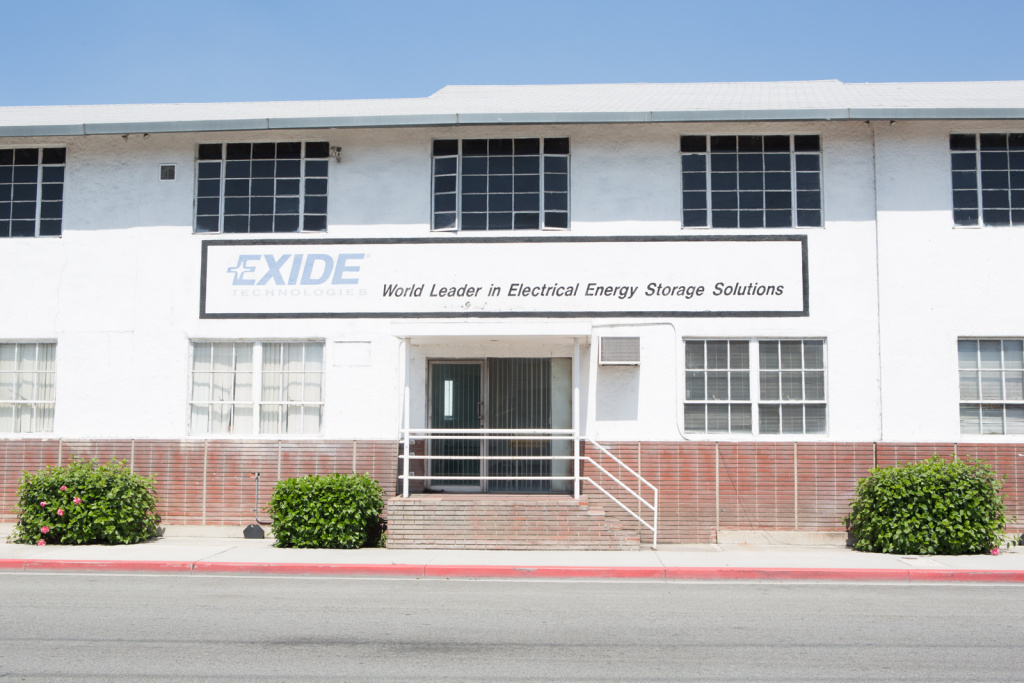The former Exide battery recycling plant in Vernon.
