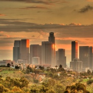 Downtown Los Angeles sunset dtla