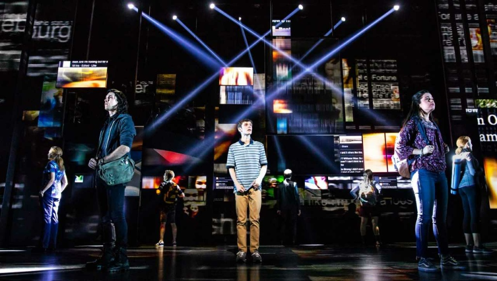"Ben Levi Ross plays the title role in the first North American tour of ""Dear Evan Hansen,""  at the Ahmanson Theatre through Nov. 25, 2018. The musical by the composer team of Benj Pasek and Justin Paul swept the 2017 Tony Awards."