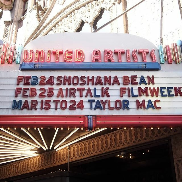 A photo of the marquee for FilmWeek's 16th annual Academy Awards Preview Show at The Theatre at Ace Hotel in Los Angeles, Calif on February 25, 2018.