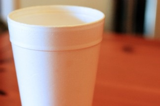 A Styrofoam ban would mean the end of to-go cups like these.