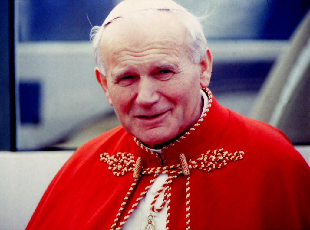 Visit of the Pope John Paul II to Santiago de Compostela, 9th November 1982, Santiago de Compostela, Galicia, Spain.