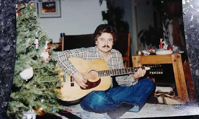David Witthuhn seated near a Christmas tree after the murder of his wife Manuela Witthuhn in 1981.