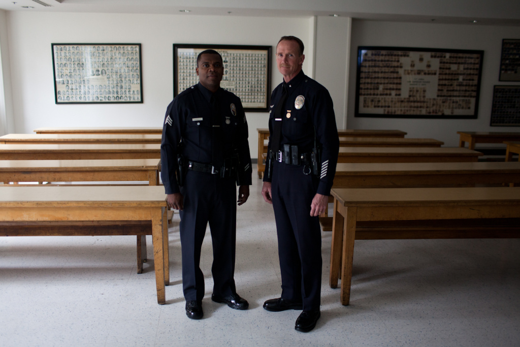 Sergeant Hendley Hawkins, left, and Commander Bob Green both served in the LAPD during the '92 riots.