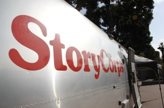 The StoryCorps mobile recording studio, housed in a shiny Airstream trailer, will be outside the California African American History Museum in LA's Exposition Park through April 23.