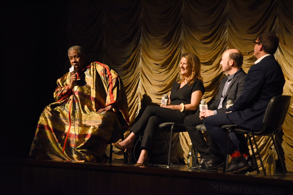 Andre Leon Talley, Kate Novack, Andrew Rossi and Josh Welsh attend Film Independent at LACMA special screening of